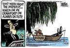 Cartoonist Mike Peters  Mike Peters' Editorial Cartoons 2006-08-10 worry