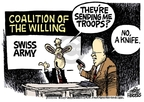 Cartoonist Mike Peters  Mike Peters' Editorial Cartoons 2007-02-24 troop