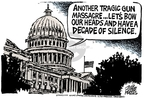 Cartoonist Mike Peters  Mike Peters' Editorial Cartoons 2007-04-19 gun