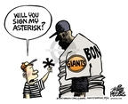 Cartoonist Mike Peters  Mike Peters' Editorial Cartoons 2007-08-06 baseball