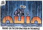 Cartoonist Mike Peters  Mike Peters' Editorial Cartoons 2007-08-23 rescue