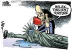 Cartoonist Mike Peters  Mike Peters' Editorial Cartoons 2007-12-11 Statue of Liberty