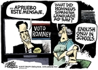 Cartoonist Mike Peters  Mike Peters' Editorial Cartoons 2008-01-24 political commercial