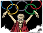 Cartoonist Mike Peters  Mike Peters' Editorial Cartoons 2008-03-27 Olympics