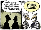 Cartoonist Mike Peters  Mike Peters' Editorial Cartoons 2008-04-08 Iraq military