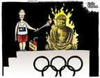 Cartoonist Mike Peters  Mike Peters' Editorial Cartoons 2008-04-09 Olympics