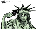 Cartoonist Mike Peters  Mike Peters' Editorial Cartoons 2008-06-27 gun