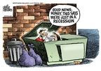 Cartoonist Mike Peters  Mike Peters' Editorial Cartoons 2008-09-23 financial crisis