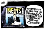 Cartoonist Mike Peters  Mike Peters' Editorial Cartoons 2008-09-25 republican politician