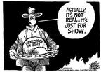 Cartoonist Mike Peters  Mike Peters' Editorial Cartoons 2003-12-07 Thanksgiving turkey
