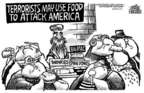 Cartoonist Mike Peters  Mike Peters' Editorial Cartoons 2004-12-09 terrorism