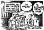 Cartoonist Mike Peters  Mike Peters' Editorial Cartoons 2001-12-20 football game