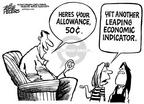 Cartoonist Mike Peters  Mike Peters' Editorial Cartoons 2001-12-22 inflation