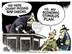 Cartoonist Mike Peters  Mike Peters' Editorial Cartoons 2008-12-26 financial crisis