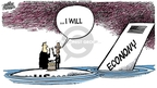 Cartoonist Mike Peters  Mike Peters' Editorial Cartoons 2009-01-16 financial crisis