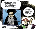 Cartoonist Mike Peters  Mike Peters' Editorial Cartoons 2009-06-19 2009 Iranian election