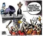Cartoonist Mike Peters  Mike Peters' Editorial Cartoons 2009-08-04 hall