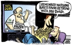 Cartoonist Mike Peters  Mike Peters' Editorial Cartoons 2009-08-24 football player