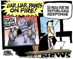 Cartoonist Mike Peters  Mike Peters' Editorial Cartoons 2009-09-10 fire