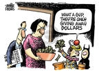 Cartoonist Mike Peters  Mike Peters' Editorial Cartoons 2009-10-15 decrease