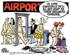 Cartoonist Mike Peters  Mike Peters' Editorial Cartoons 2009-12-30 air travel safety