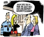 Cartoonist Mike Peters  Mike Peters' Editorial Cartoons 2010-01-08 air travel safety