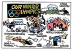Cartoonist Mike Peters  Mike Peters' Editorial Cartoons 2010-02-12 2010 Olympics