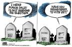 Cartoonist Mike Peters  Mike Peters' Editorial Cartoons 2010-09-14 dead