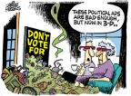 Cartoonist Mike Peters  Mike Peters' Editorial Cartoons 2010-09-21 political commercial