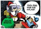 Cartoonist Mike Peters  Mike Peters' Editorial Cartoons 2010-12-01 child