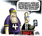 Cartoonist Mike Peters  Mike Peters' Editorial Cartoons 2011-01-04 football player