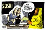 Cartoonist Mike Peters  Mike Peters' Editorial Cartoons 2011-03-16 food safety