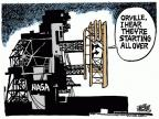 Cartoonist Mike Peters  Mike Peters' Editorial Cartoons 2011-07-21 space shuttle