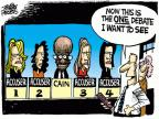 Cartoonist Mike Peters  Mike Peters' Editorial Cartoons 2011-11-09 political debate
