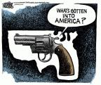 Cartoonist Mike Peters  Mike Peters' Editorial Cartoons 2012-03-23 violent