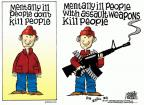 Cartoonist Mike Peters  Mike Peters' Editorial Cartoons 2012-12-19 violent