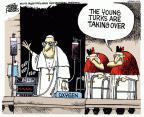 Cartoonist Mike Peters  Mike Peters' Editorial Cartoons 2013-03-15 elderly