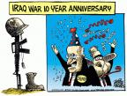 Cartoonist Mike Peters  Mike Peters' Editorial Cartoons 2013-03-21 Iraq military