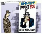 Cartoonist Mike Peters  Mike Peters' Editorial Cartoons 2013-06-06 military