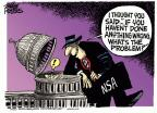 Cartoonist Mike Peters  Mike Peters' Editorial Cartoons 2013-12-11 security