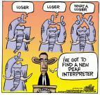Cartoonist Mike Peters  Mike Peters' Editorial Cartoons 2013-12-13 sign