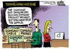 Cartoonist Mike Peters  Mike Peters' Editorial Cartoons 2014-02-14 television cartoon