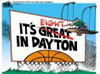 Cartoonist Mike Peters  Mike Peters' Editorial Cartoons 2014-03-28 March Madness bracket