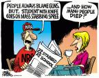 Cartoonist Mike Peters  Mike Peters' Editorial Cartoons 2014-04-10 violent