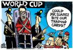 Cartoonist Mike Peters  Mike Peters' Editorial Cartoons 2014-06-26 football player