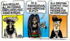 Cartoonist Mike Peters  Mike Peters' Editorial Cartoons 2014-07-02 religion science