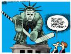 Cartoonist Mike Peters  Mike Peters' Editorial Cartoons 2014-07-09 Statue of Liberty