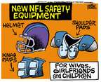 Cartoonist Mike Peters  Mike Peters' Editorial Cartoons 2014-09-17 football player