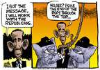Cartoonist Mike Peters  Mike Peters' Editorial Cartoons 2014-11-06 2014 election