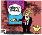 Cartoonist Mike Peters  Mike Peters' Editorial Cartoons 2015-07-16 Trump Immigration